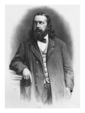 Theophile Gautier, Engraved by A. Lemoine (Litho) (B/W Photo) Giclee Print by  French