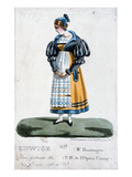 Madame Boulanger in the Role of Edwige in the Opera 'Guillaume Tell' by Rossini (Colour Litho) Giclee Print by  French