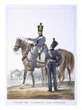 Uniform of the Artillery Squadron, 1823 (Colour Litho) Giclee Print by Charles Aubry