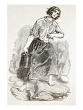 Peasant Girl of Mull, from 'The Illustrated London News', 1849 (Engraving) Giclee Print by Paul Gavarni