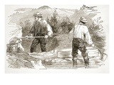 Gold-Washing at the Diggings, from 'The Illustrated London News', 1849 (Engraving) Giclee Print by  English