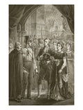 Queen Caroline Demanding Entry into Westminster Abbey, Engraved by Butterworth and Heath Giclee Print by C.O. Murray