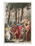 Inachus Bereaved, Book I, Illustration from Ovid's Metamorphoses, Florence, 1832 Giclee Print by Luigi Ademollo