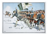 Battle of Mollwitz, 10th April 1741 (Colour Litho) Giclee Print by Richard Knoetel