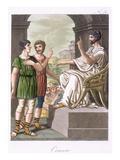 A Roman Censor, Illustration from 'L'Antique Rome', Engraved by Labrousse, Published 1796 Giclee Print by Jacques Grasset de Saint-Sauveur
