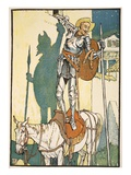 The Enchantment of Don Quixote, Illustration from 'Don Quixote of the Mancha' Giclee Print by Walter Crane