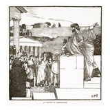 The Oration of Demostenes (Litho) Giclee Print by  English