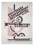 Front Cover of 'Nouvelles Compositions Decoratives', Late 1920S (Pochoir Print) Giclee Print by Serge Gladky