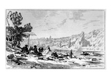 George Sand Having Lunch on the Banks of the Creuse, C.1860 (Engraving) Giclee Print by Pierre Eugene Grandsire