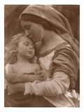 Portrait of Mother and Child (Sepia Photo) Giclee Print by Julia Margaret Cameron
