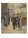 Re-Entry to the Chambres Des Deputes: Three Ghosts Giclee Print by  French
