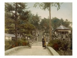 Kurodani Graves, Kyoto, 1890S (Hand Coloured Photo) Giclee Print by  Japanese Photographer