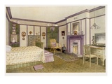 Green and Mauve Bedroom (Colour Litho) Giclee Print by Richard Goulburn Lovell