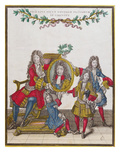 The French Royal Family Holding a Portrait of Louis Xiv, Late Seventeenth Century Reproduction procédé giclée par Nicolas Arnoult