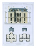 Design from &#39;Town and Country Houses Based on the Modern Houses of Paris&#39;, C.1864 (Colour Litho) Giclee Print by  Leblanc