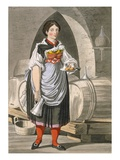 A Serving Girl at an Inn Near Innsbruck, C.1800 (Coloured Engraving) Giclee Print by Josef Anton Kapeller