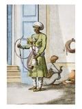 Hookah Burdar, or Huka Bearer Giclee Print by Franz Balthazar Solvyns