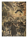 The Death of Fireman Bailly in Bourges Giclee Print by Fortuné Louis Méaulle
