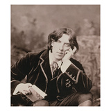 Portrait of Oscar Wilde (1854-1900), 1882 (B/W Photo) (Detail of 87436) Giclee Print by Napoleon Sarony