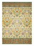 Faience Mural with Border Using Highly Stylised Repeating Patterns Using Plant Forms, from a Kiosk Reproduction proc&#233;d&#233; gicl&#233;e par Emile Prisse d&#39;Avennes