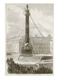 Preparations for Destroying the Napoleon Column Giclee Print by  French