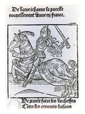 Joan of Arc (Woodcut) Giclee Print by  French