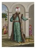 The Bostangi-Bachi, Plate 18 Giclée-Druck von Jean Baptiste Vanmour