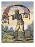 Paeni Caori (Religious Devotee Carrying Offerings for the Gods) Giclee Print by Pierre Sonnerat