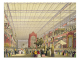 View of the Foreign Nave of the Great Exhibition of 1851, from Dickinson's Comprehensive Pictures Giclee Print by  English