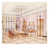 Design for a Dining Room, from 'Documents Architecture Moderne' (Colour Litho) Giclee Print by Paul Ludwig Troost