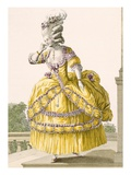 Golden Gown, Engraved by Dupin, Plate No.37 from 'Galeries Des Modes Et Costumes Francais', 1789 Giclee Print by Pierre Thomas Le Clerc