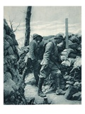 The French Front: Watching the Enemy's Trench Through a Periscope before a Throw Giclee Print by  French Photographer