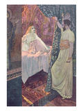 Othello and Desdemona, Scene from 'Othello' by William Shakespeare (1564-1616) C.1900 (Litho) Giclee Print by Artus Scheiner