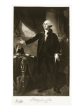 George Washington, 1st President of the United States of America, Pub. 1901 Giclee Print by Gilbert Stuart