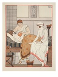 Applying a Suction to the Breast, Illustration from 'The Works of Hippocrates', 1934 (Colour Litho) Giclee Print by Joseph Kuhn-Regnier