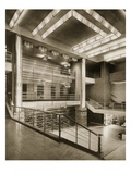 The Hall Stairway and Grilled Balcony of Theatre Pigalle, 1920S (B/W Photo) Giclee Print by  French Photographer