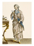 Dressing Gown in Printed Cotton, Engraved by Patas, Plate No.140 Giclee Print by Pierre Thomas Le Clerc