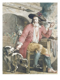Le Bon Sans-Culotte, C.1789 (Coloured Engraving) (See 161092 for B/W) Giclee Print by  French