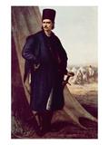 Portrait of Tudor (Theodor) Vladimirescu (Colour Litho) Giclee Print by Theodor Aman