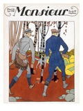 The Masked Ball, C.1920 (Stencil) Giclee Print by Charles Martin