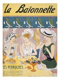 Cover Illustration from 'La Baionnette' Magazine, 1914-18 (Colour Litho) Giclee Print by  French