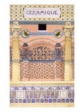 Ceramics: Designs for Tiled Wall Schemes, from 'Decorative Sketches', C.1895 (Colour Litho) Giclee Print by Rene Binet