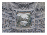 The Comedie Francaise, C.1791 (W/C on Paper) Giclee Print by  Meunier