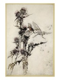 Kill Me a Red-Hipped Humble-Bee on the Top of a Thistle Giclee Print by Arthur Rackham