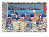 Preparing Fish (Colour Woodcut) Premium Giclee Print by  Japanese