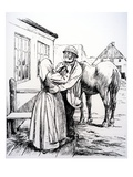 Illustration from 'What the Old Man Does Is Always Right' by Hans Christian Andersen (Engraving) Giclee Print by Hans Tegner