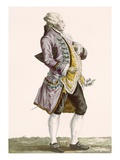 Gentleman in Cullotes and Tailed Jacket, Engraved by Dupin, Plate No.71 Giclee Print by Pierre Thomas Le Clerc