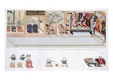 Japanese Marriage Customs, C.1820 (Colour Litho) Giclee Print by  Japanese