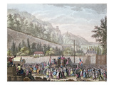 The Women of Les Halles at Auteuil When Bringing the French Royal Family to Paris Giclee Print by Jan Bulthuis