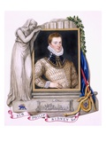 Portrait of Sir Philip Sidney (1554-86) from 'Memoirs of the Court of Queen Elizabeth' Giclee Print by Sarah Countess Of Essex